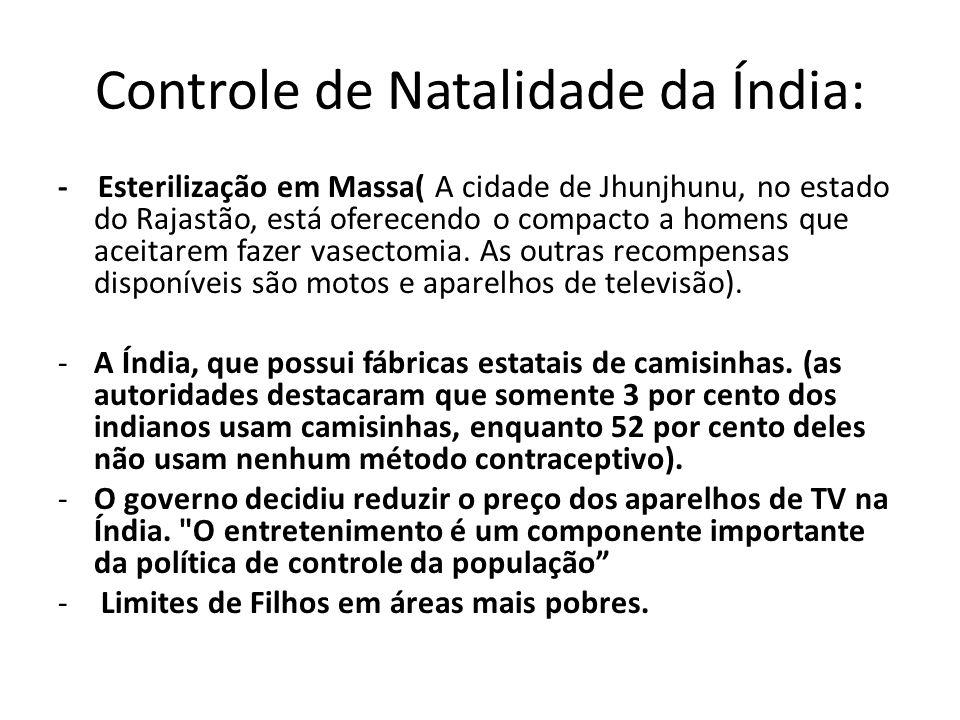 Controle de Natalidade da Índia:
