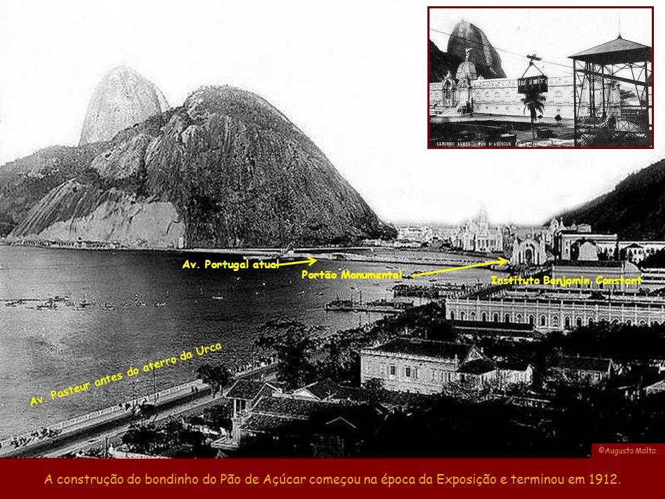 Av. Portugal atual Portão Monumental. Instituto Benjamin Constant. Av. Pasteur antes do aterro da Urca.
