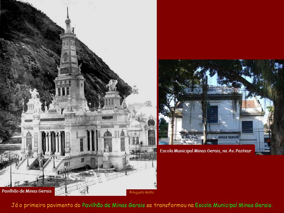 acervo Olinio Coelho Escola Municipal Minas Gerais, na Av. Pasteur. Pavilhão de Minas Gerais. ©Augusto Malta.
