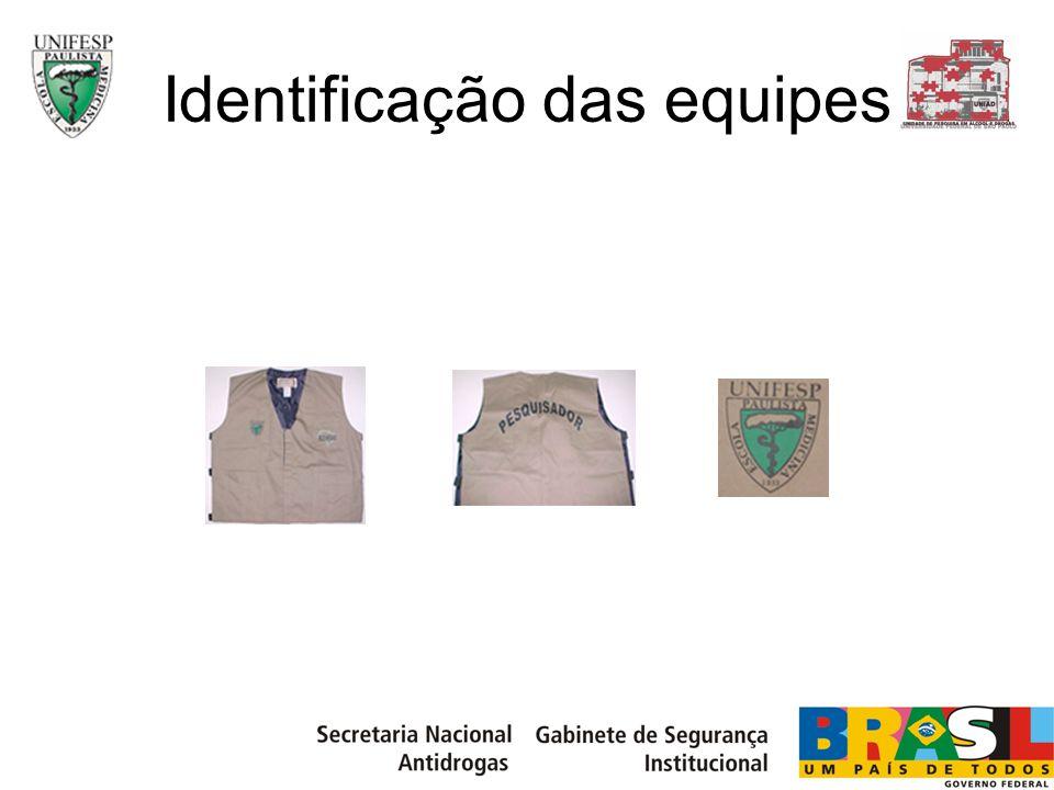Identificação das equipes