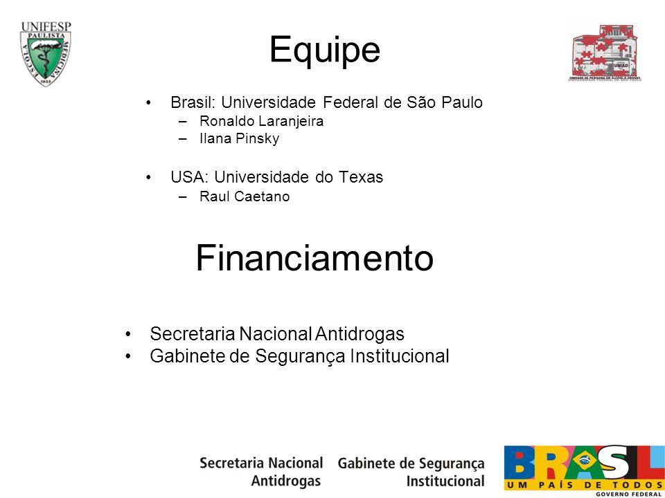 Equipe Financiamento Secretaria Nacional Antidrogas