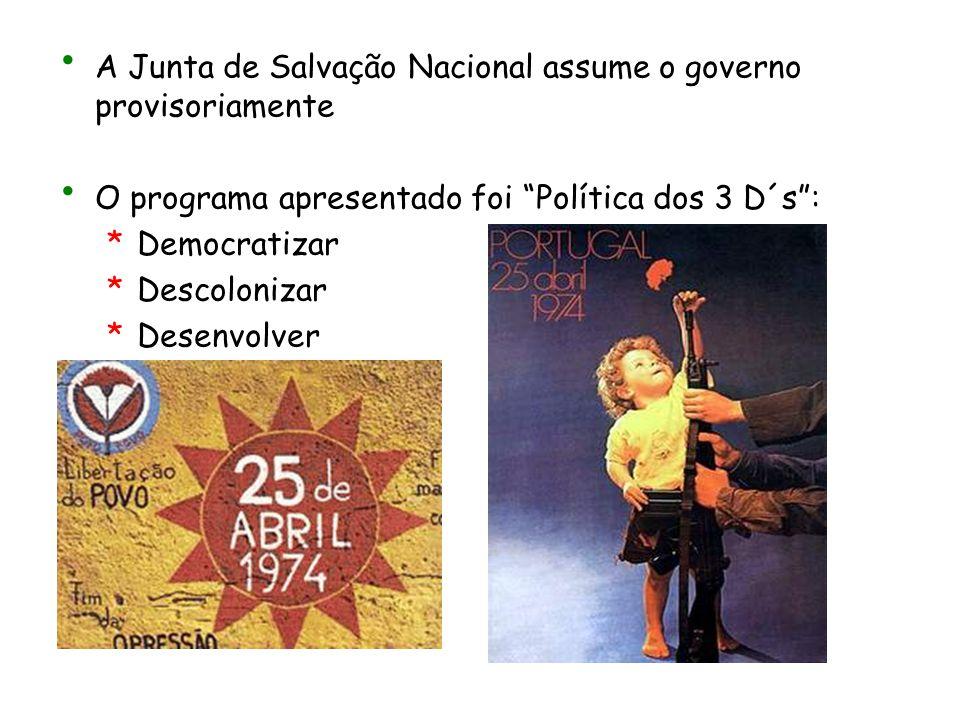 A Junta de Salvação Nacional assume o governo provisoriamente