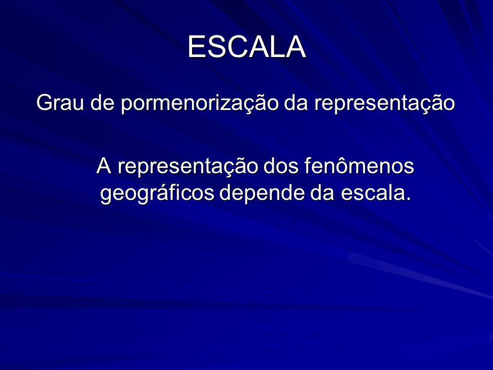 A representação dos fenômenos geográficos depende da escala.