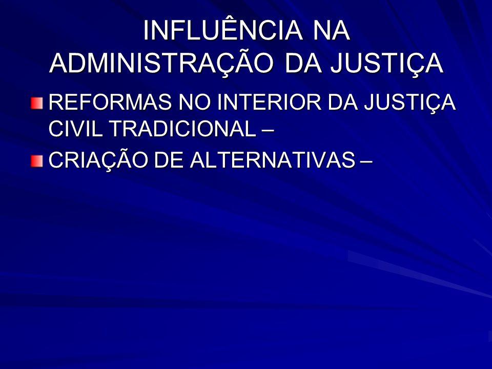 INFLUÊNCIA NA ADMINISTRAÇÃO DA JUSTIÇA