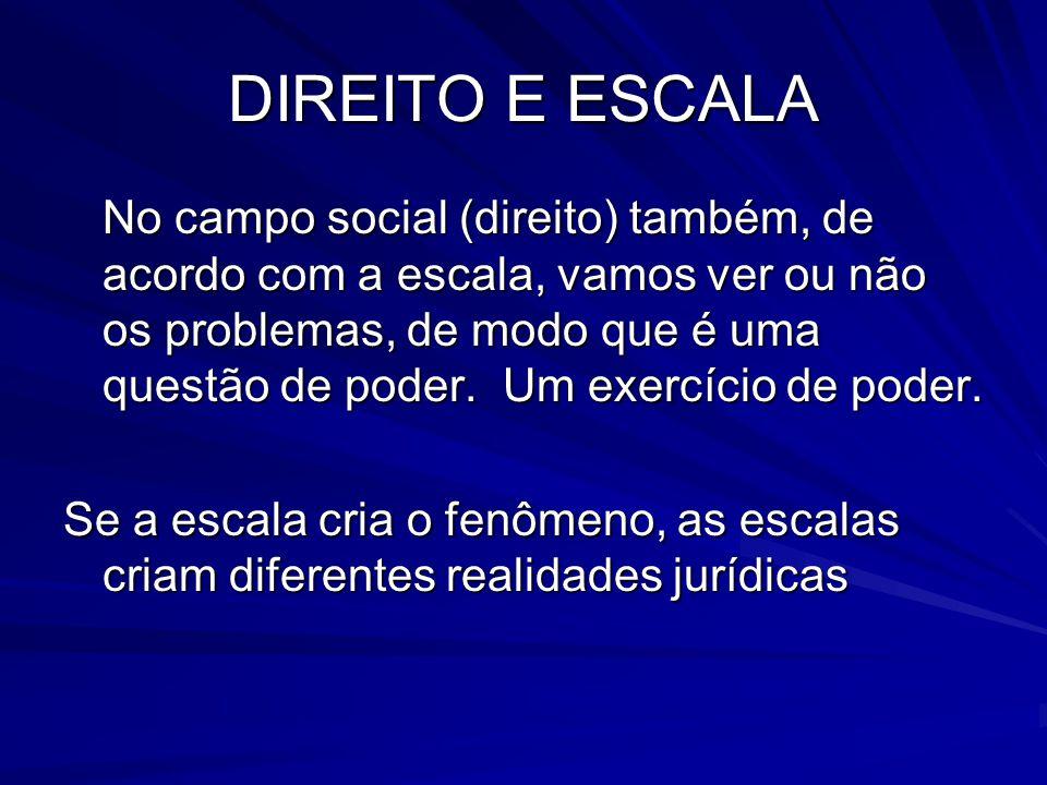 DIREITO E ESCALA