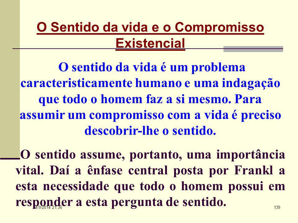 O Sentido da vida e o Compromisso Existencial