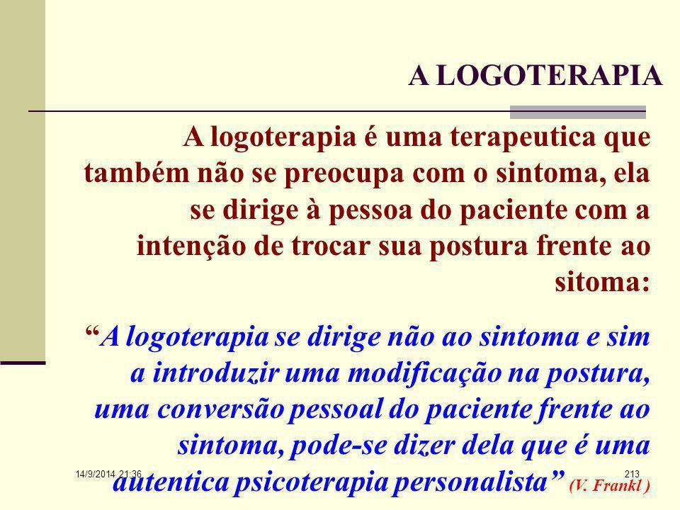 A LOGOTERAPIA