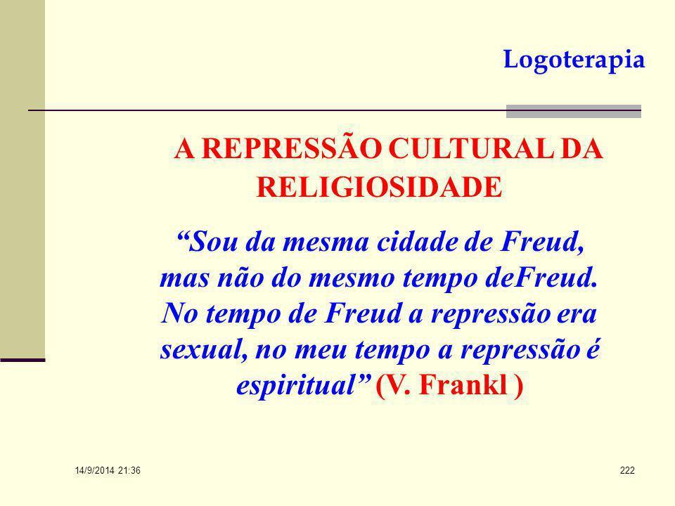 A REPRESSÃO CULTURAL DA RELIGIOSIDADE
