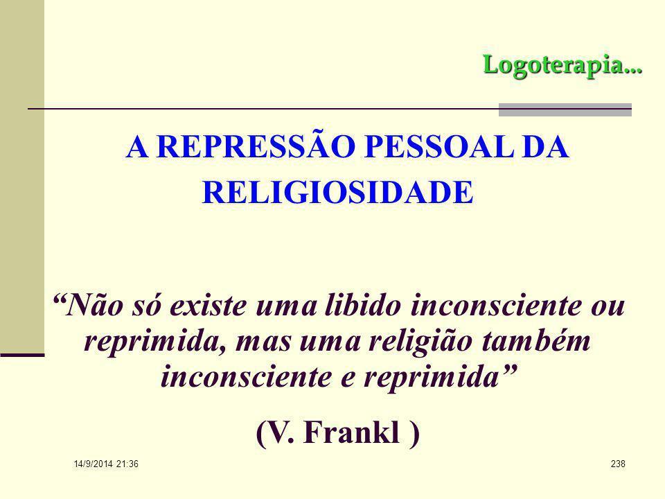 A REPRESSÃO PESSOAL DA RELIGIOSIDADE