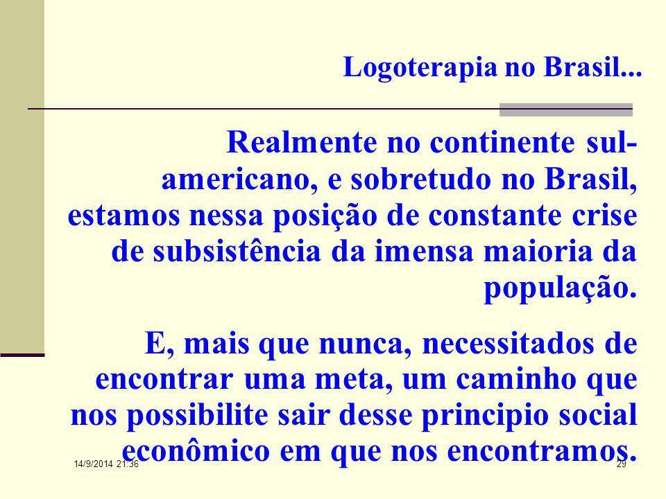 Logoterapia no Brasil...