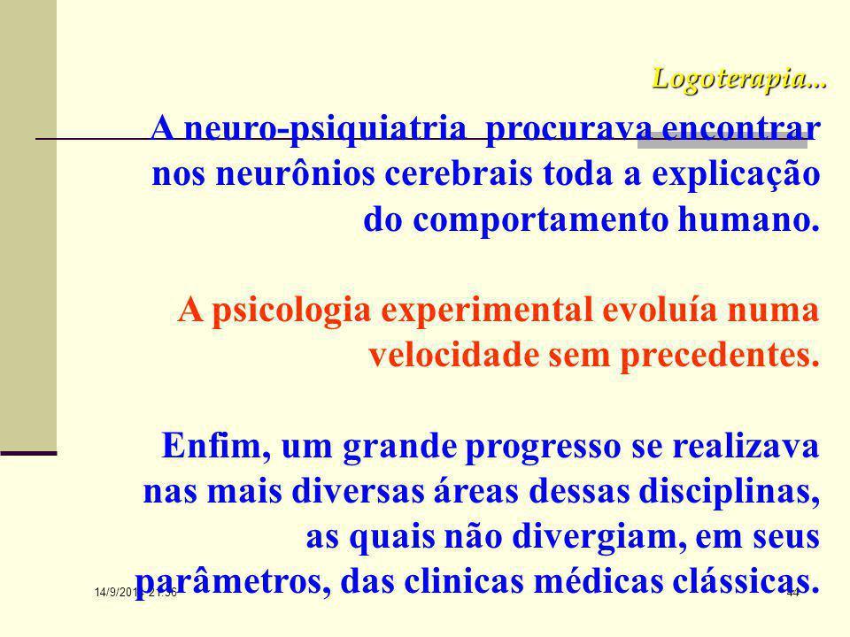 A psicologia experimental evoluía numa velocidade sem precedentes.