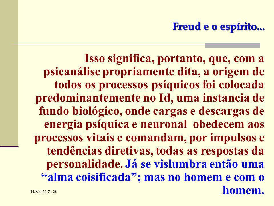 Freud e o espírito...
