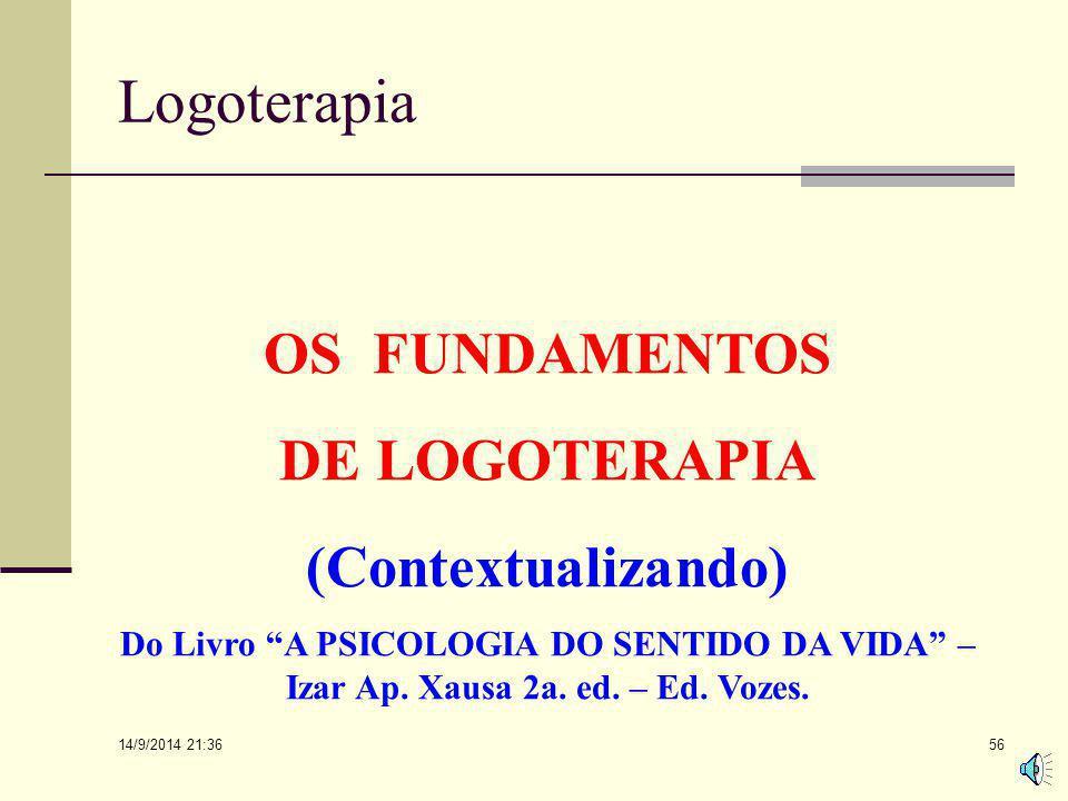 Logoterapia OS FUNDAMENTOS DE LOGOTERAPIA (Contextualizando)
