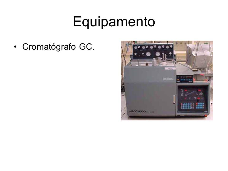 Equipamento Cromatógrafo GC.