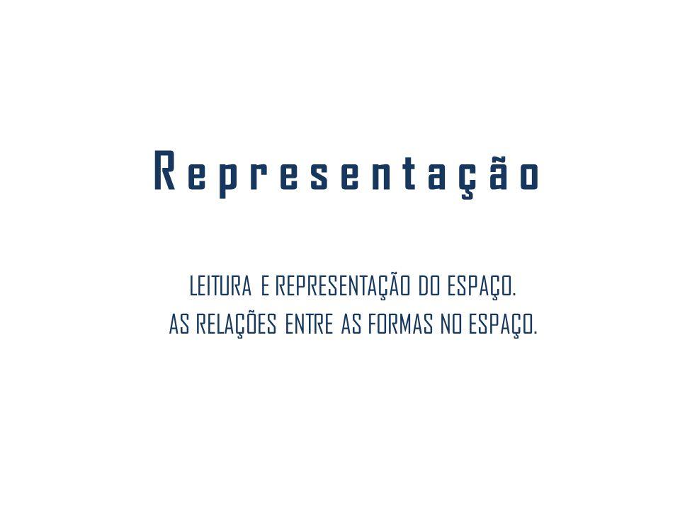 R e p r e s e n t a ç ã o LEITURA E REPRESENTAÇÃO DO ESPAÇO.
