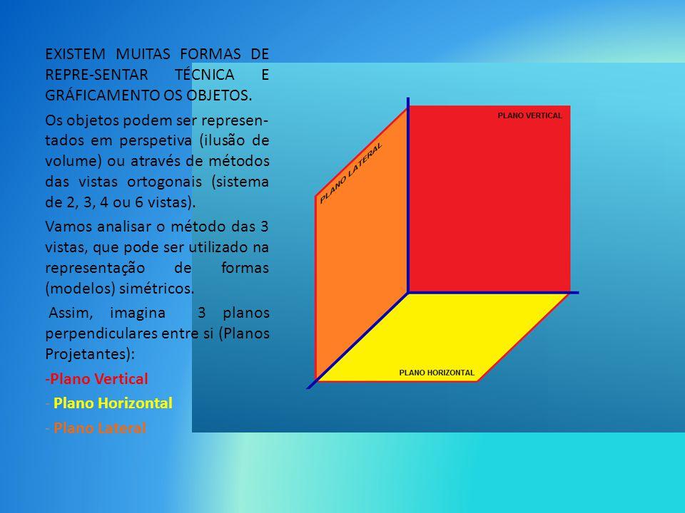 EXISTEM MUITAS FORMAS DE REPRE-SENTAR TÉCNICA E GRÁFICAMENTO OS OBJETOS.