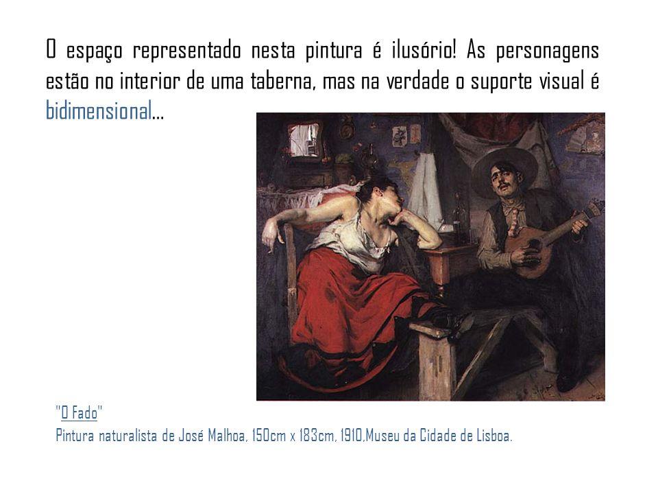 O espaço representado nesta pintura é ilusório