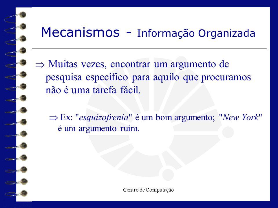 Mecanismos - Informação Organizada