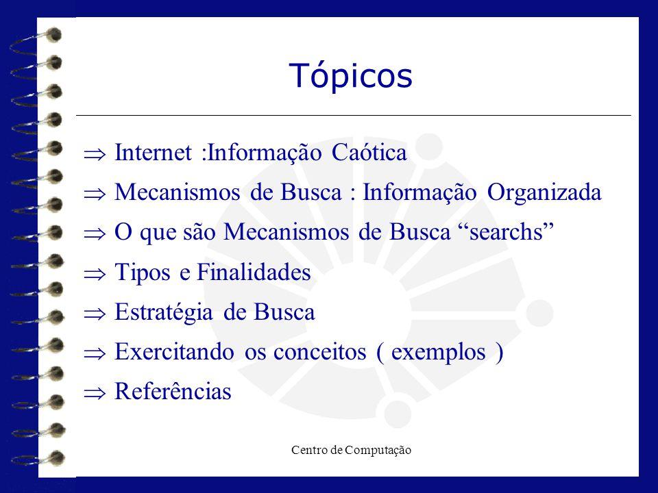 Tópicos Internet :Informação Caótica