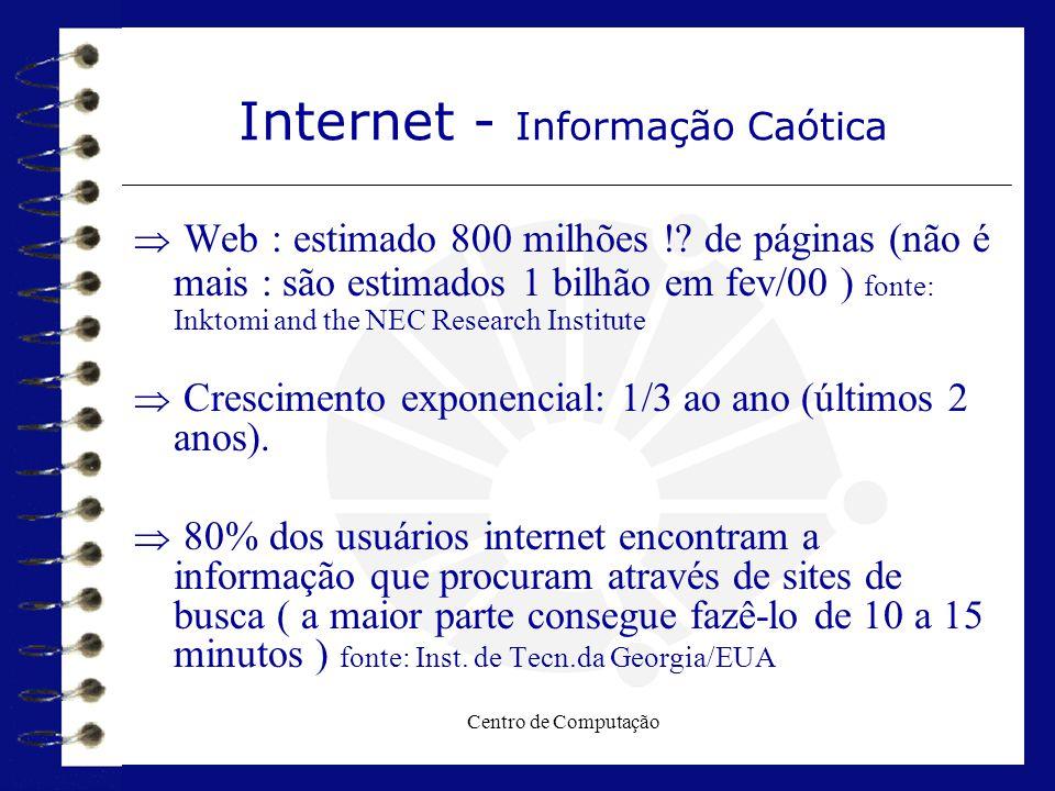 Internet - Informação Caótica