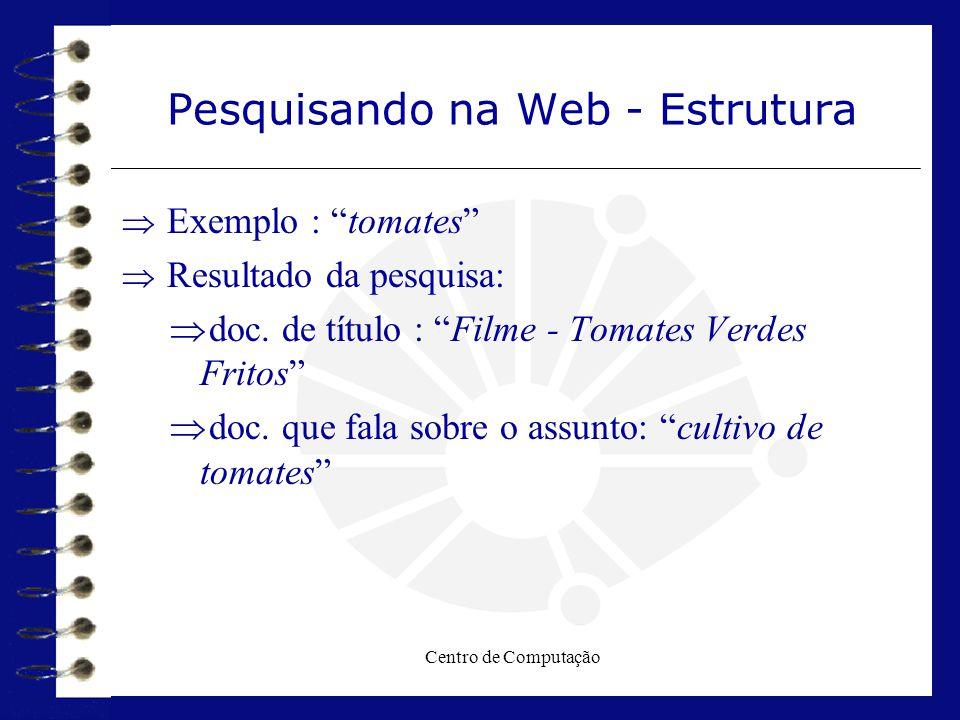 Pesquisando na Web - Estrutura