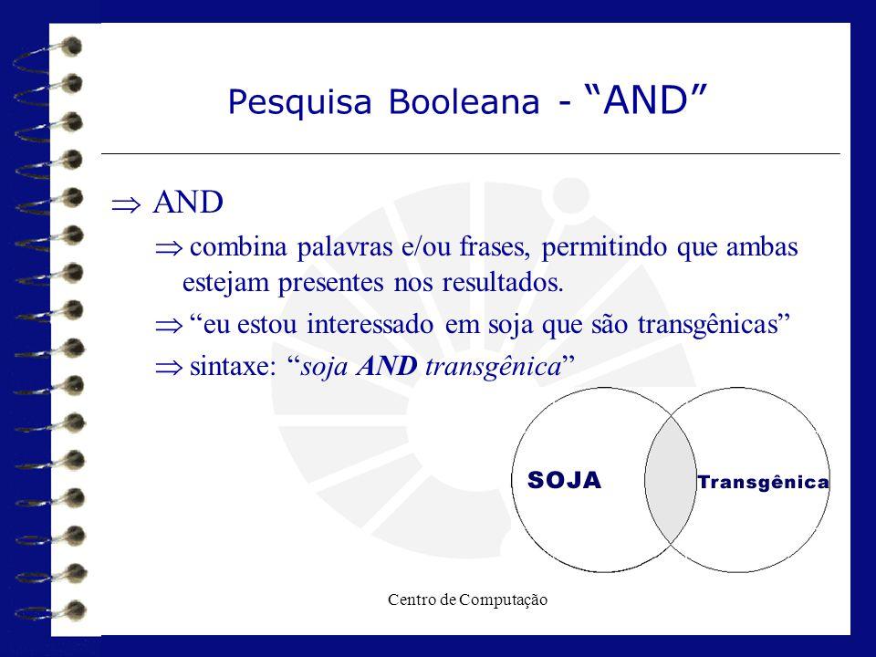 Pesquisa Booleana - AND