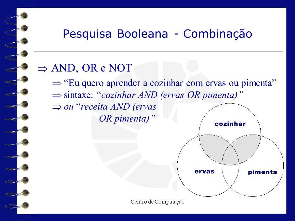 Pesquisa Booleana - Combinação