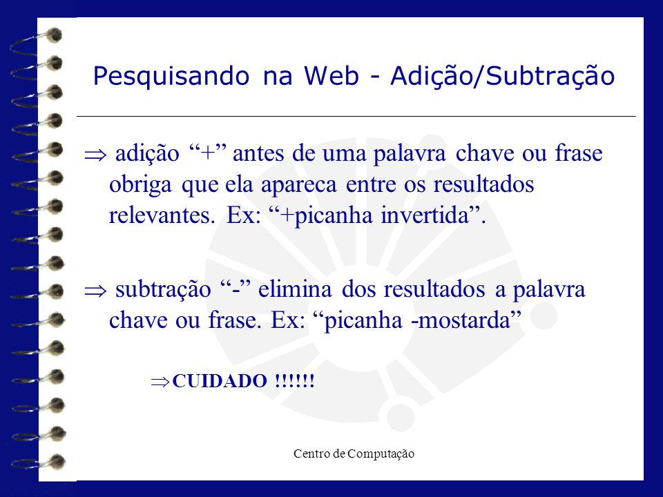 Pesquisando na Web - Adição/Subtração