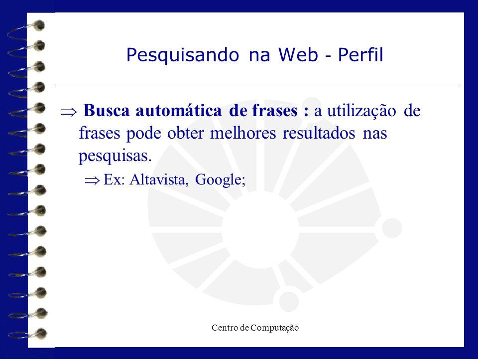 Pesquisando na Web - Perfil