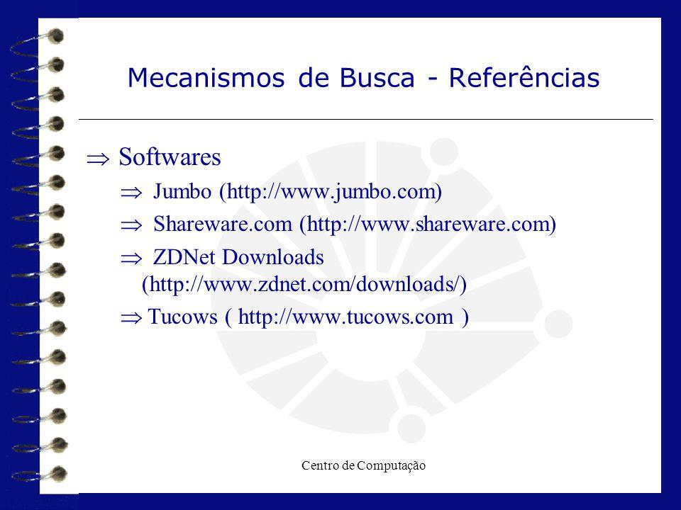 Mecanismos de Busca - Referências