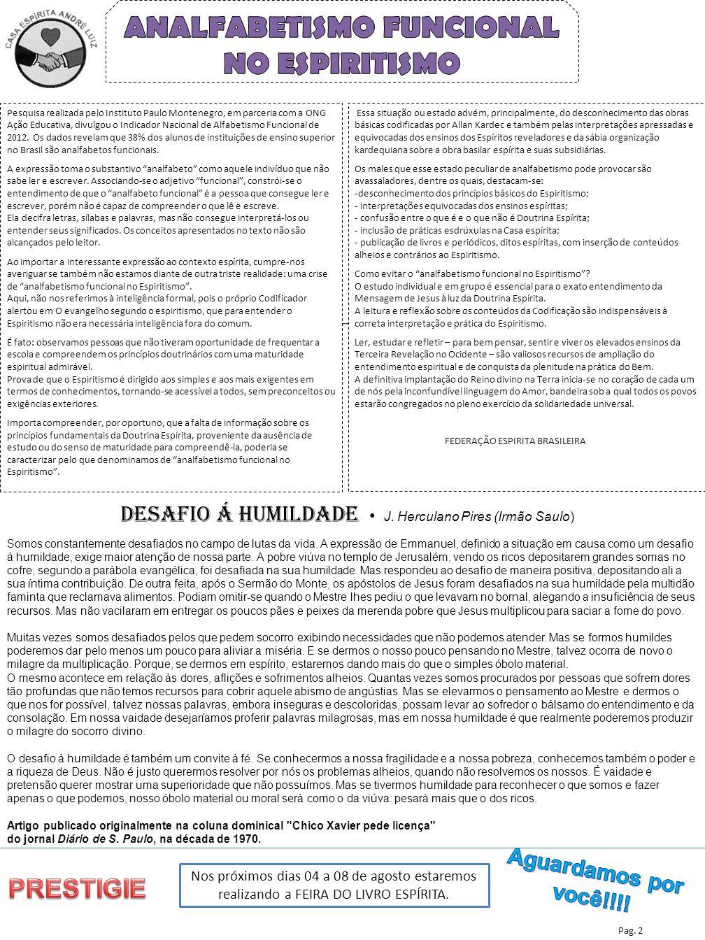 ANALFABETISMO FUNCIONAL NO ESPIRITISMO