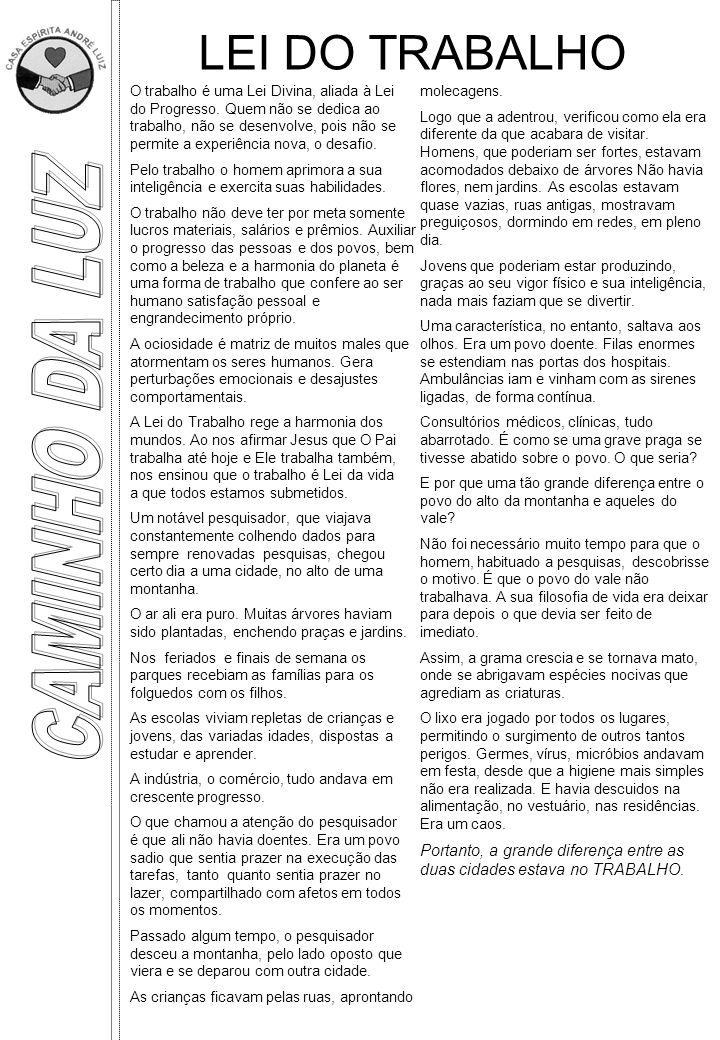 LEI DO TRABALHO CAMINHO DA LUZ