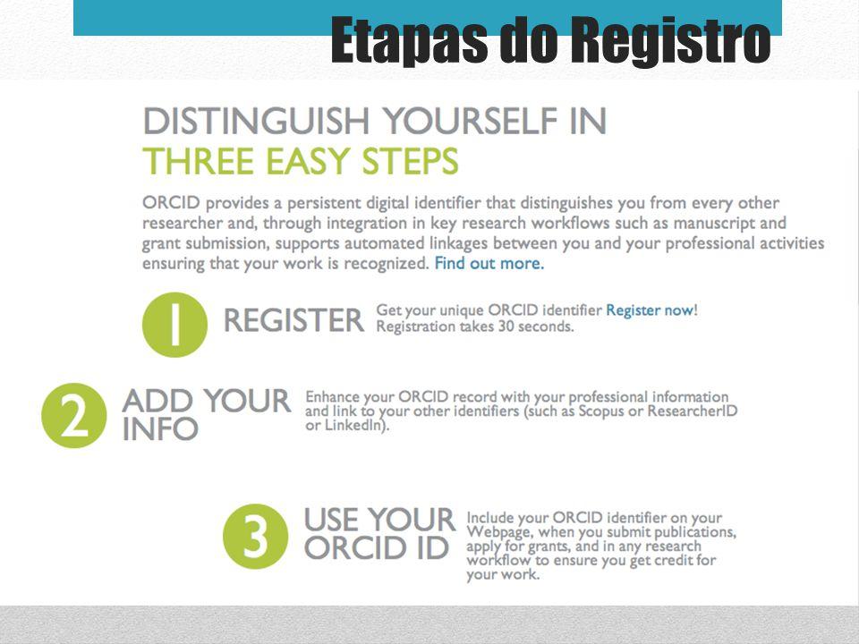 Etapas do Registro Notes for presenter: