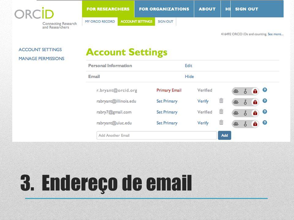 3. Endereço de email Notes for presenter: