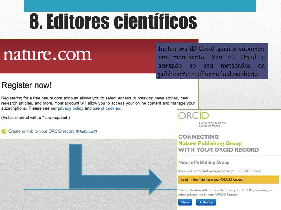 8. Editores científicos