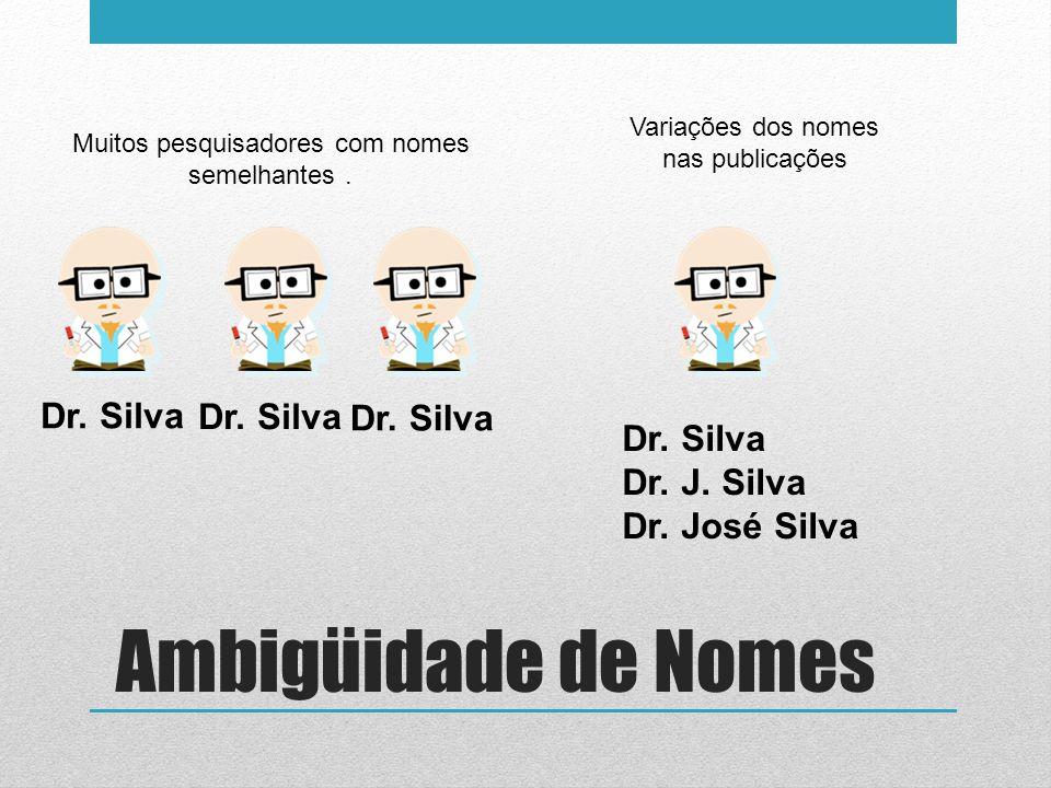 Ambigüidade de Nomes Dr. Silva Dr. Silva Dr. Silva Dr. Silva
