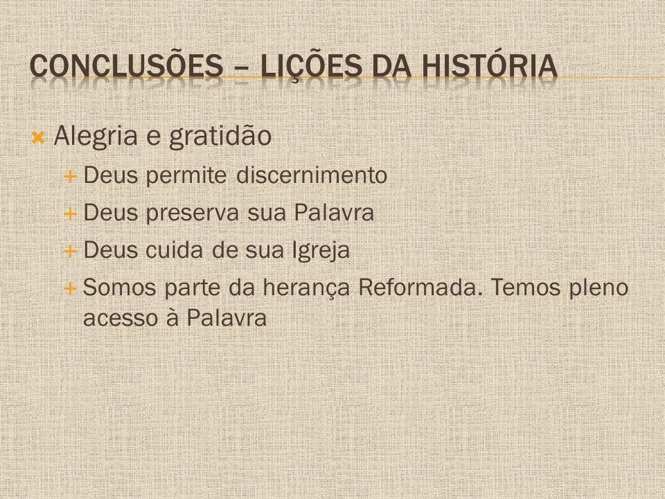 Conclusões – Lições da história