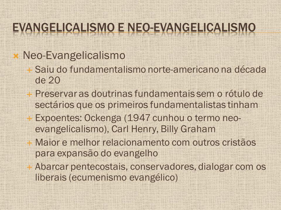 Evangelicalismo e Neo-evangelicalismo
