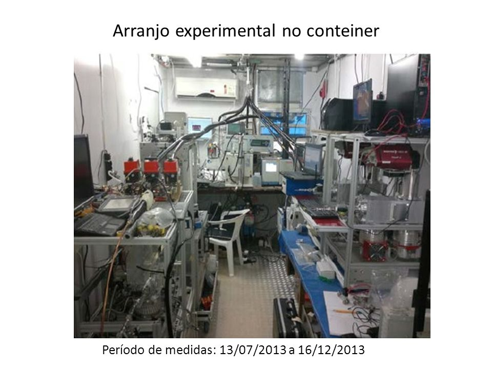 Arranjo experimental no conteiner