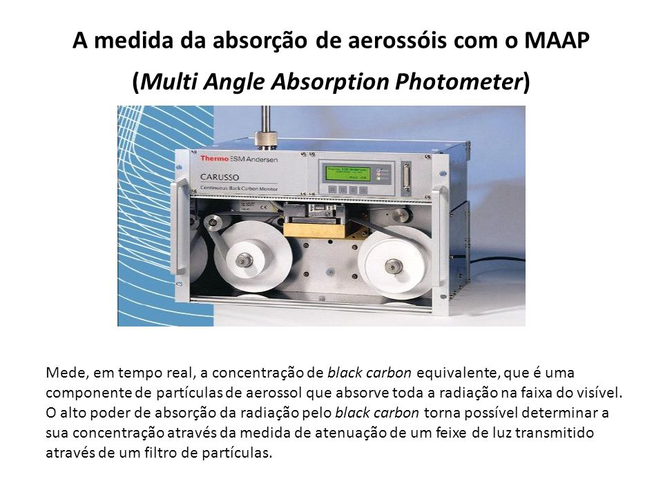 A medida da absorção de aerossóis com o MAAP (Multi Angle Absorption Photometer)