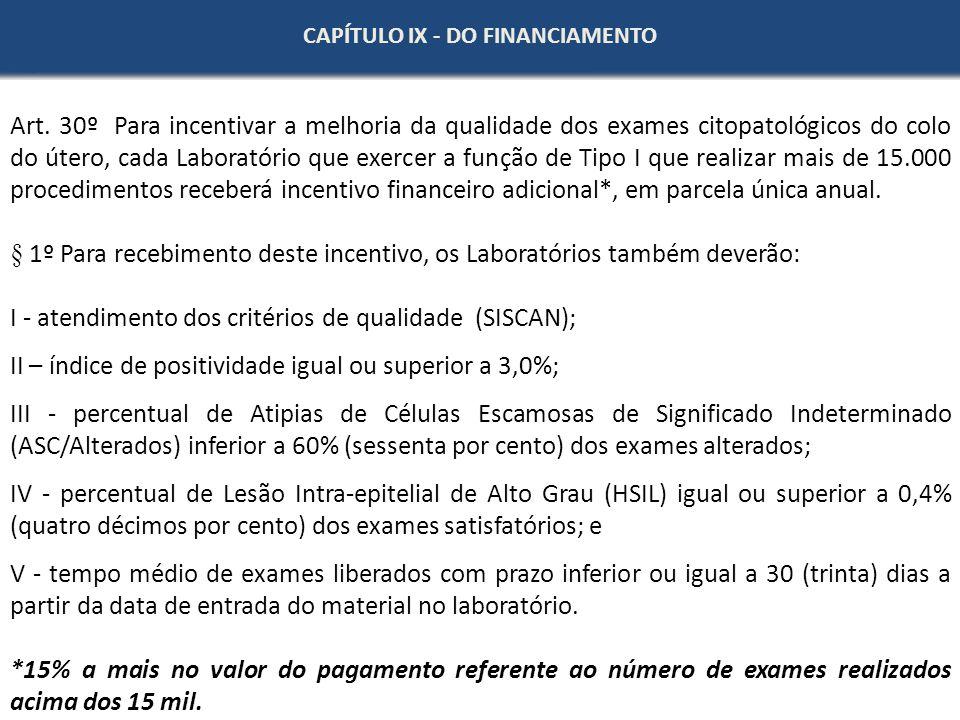 § 1º Para recebimento deste incentivo, os Laboratórios também deverão: