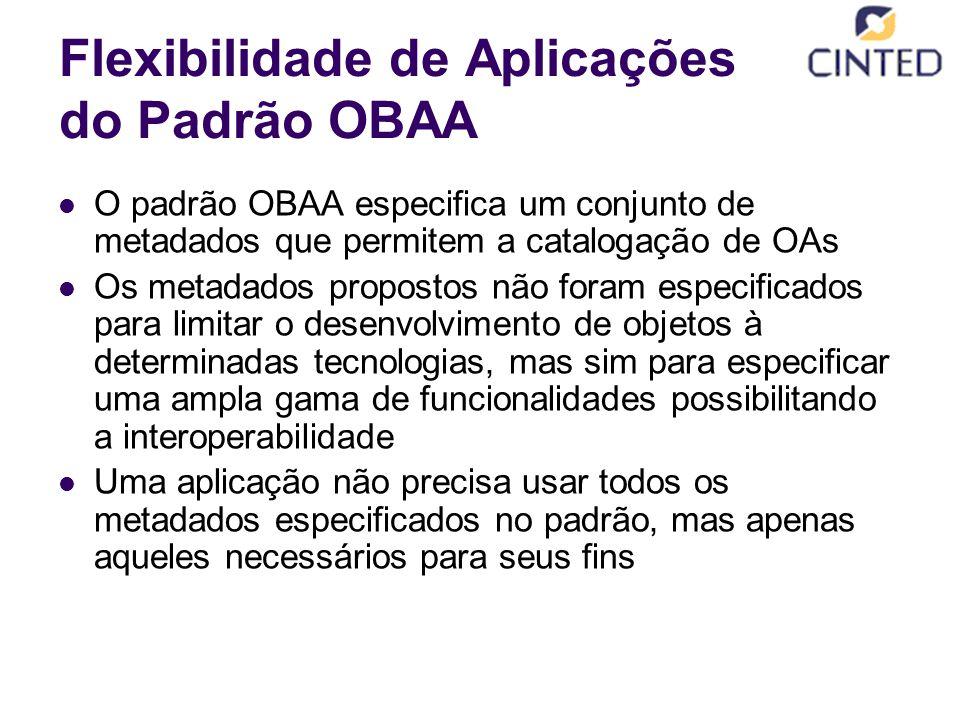 Flexibilidade de Aplicações do Padrão OBAA