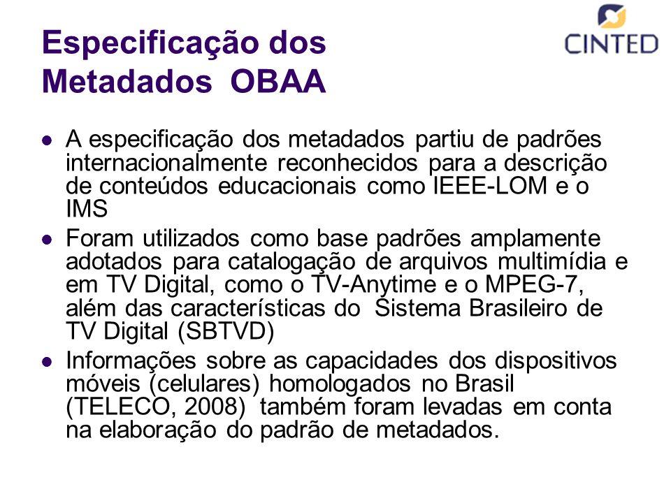 Especificação dos Metadados OBAA