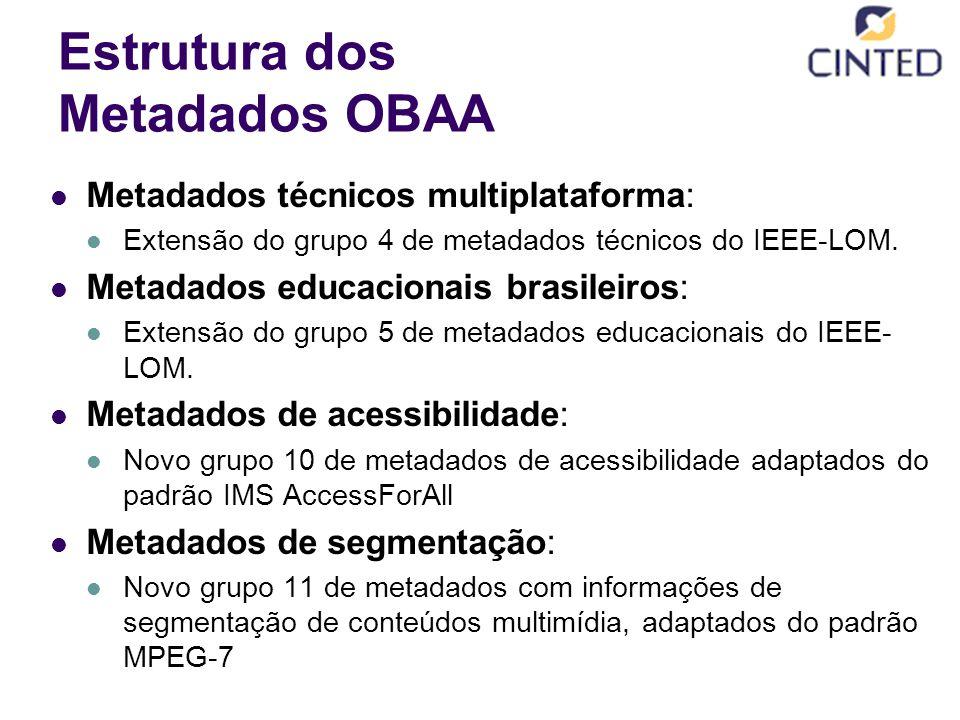Estrutura dos Metadados OBAA