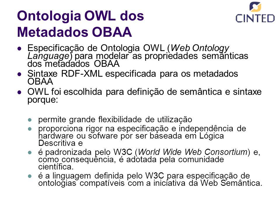 Ontologia OWL dos Metadados OBAA