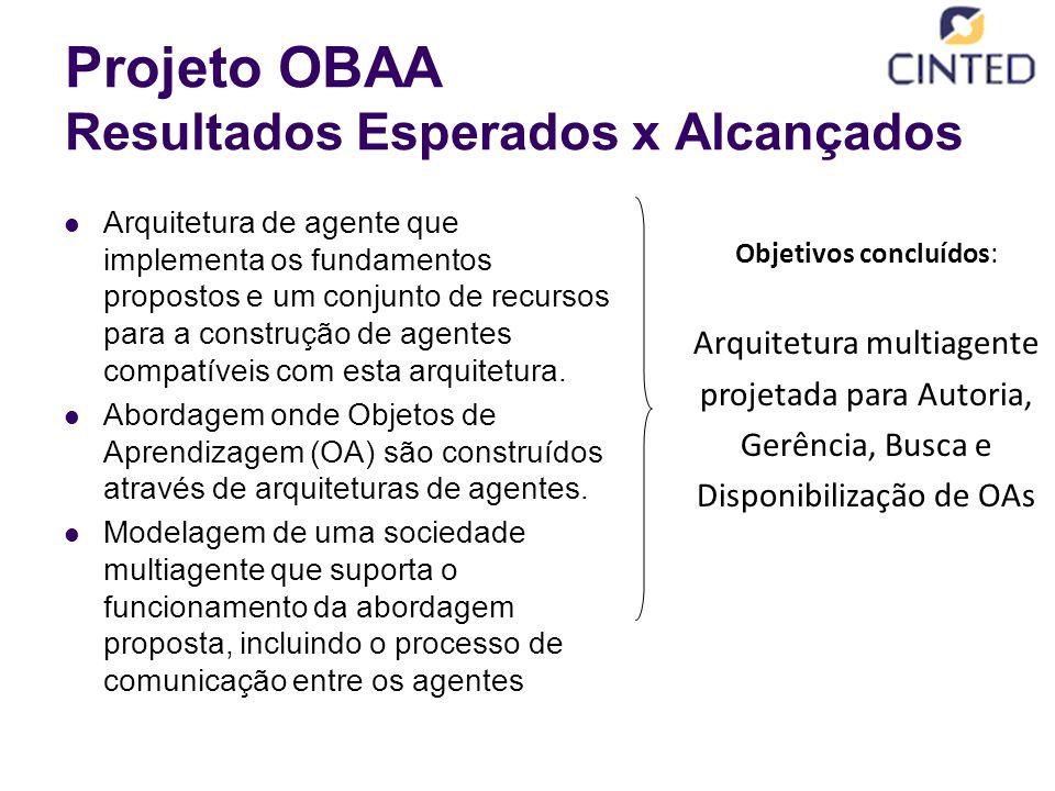 Projeto OBAA Resultados Esperados x Alcançados