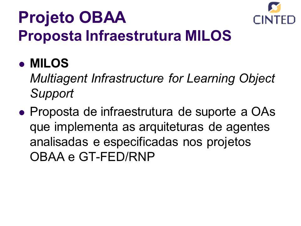Projeto OBAA Proposta Infraestrutura MILOS
