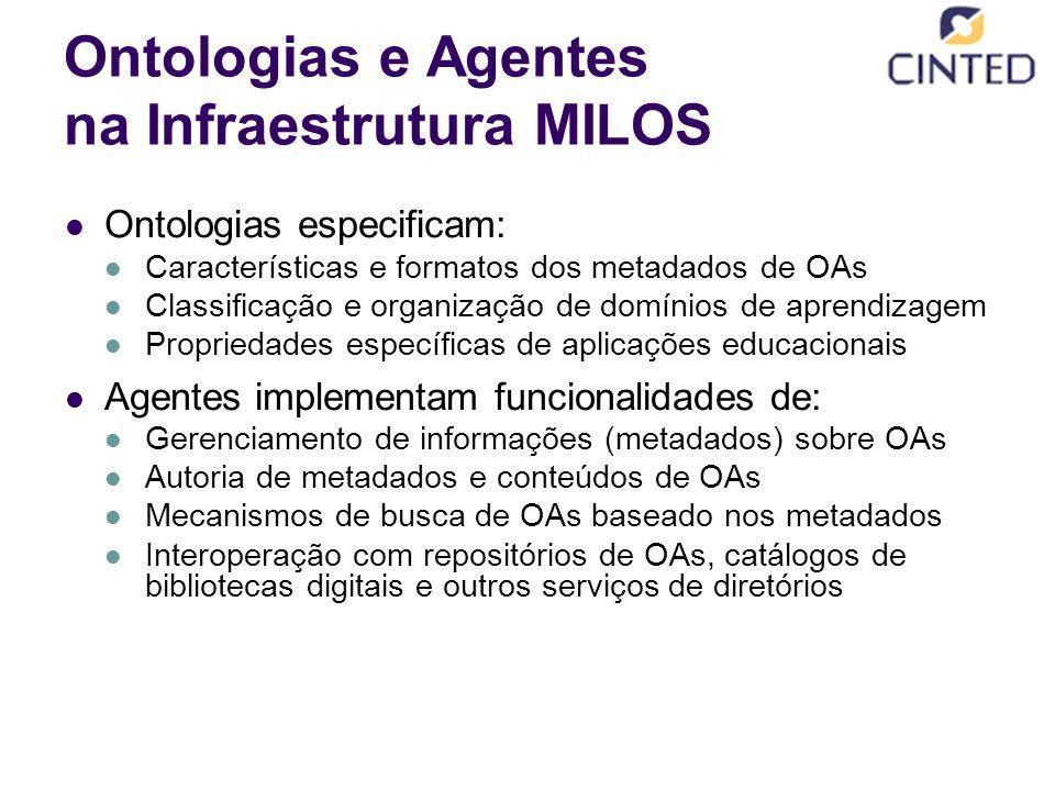 Ontologias e Agentes na Infraestrutura MILOS