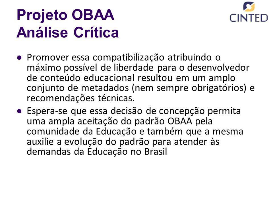Projeto OBAA Análise Crítica