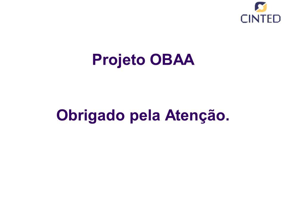Projeto OBAA Obrigado pela Atenção.